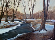 Spring Scenes Originals - Spring Thaw by Sally Simon