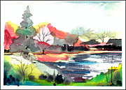 Dogwood Lake Prints - Spring Time on the Farm Print by Mindy Newman