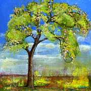 Originals Paintings - Spring Tree Art by Blenda Studio