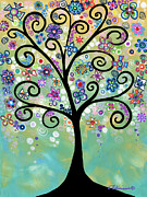 Fantasy Tree Art Paintings - Spring Tree by Elena  Feliciano