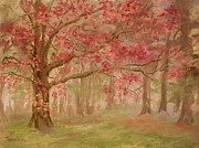 Woodland Pastels Originals - Spring Tree in Pink by Barbara Smeaton