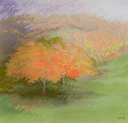 Spring Pastels Originals - Spring Trees by Bruce Richardson