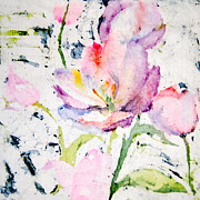 Pink And Lavender Prints - Spring Tulips Print by Martha Heppard