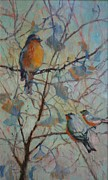 Donna Shortt Painting Metal Prints - Spring Verse Metal Print by Donna Shortt