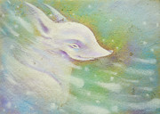 Doggy Pastels Framed Prints - Spring Wind Framed Print by Anna Petrova