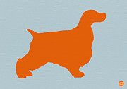 Springer Spaniel Orange Print by Naxart Studio