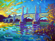 Saturated Paintings - Springfield Memorial Bridge by Caleb Colon