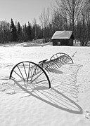 Old Farm Equipment Prints - Springs Shadow Print by Ed Boudreau