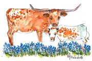 "\\\\\\\""texas Artist\\\\\\\\\\\\\\\"" Painting Posters - Springs Surprise Poster by Kathleen McElwaine"