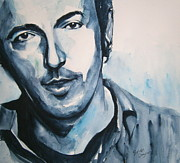 Bruce Springsteen Painting Framed Prints - Springsteen Framed Print by Brian Degnon