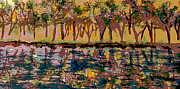 Springtime Along The Muddy River Print by Rita Brown
