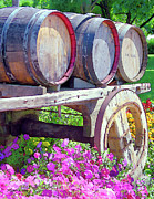 Barrels Prints - Springtime at V Sattui Winery St Helena California Print by Michelle Wiarda