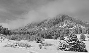 Winter Photos Prints - Springtime Colorado Rocky Mountains Boulder BW Print by James Bo Insogna