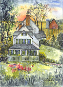 Springtime Down On The Farm Print by Carol Wisniewski