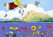 Canmore Artist Posters - Springtime In The Rockies Poster by Virginia Ann Hemingson