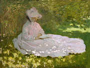 Monet Lady Posters - Springtime Poster by Nomad Art And  Design