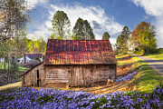 Antiques Prints - Springtime on the Farm Print by Debra and Dave Vanderlaan