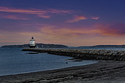 Maine Shore Prints - Sprint Point Ledge Light Print by Susan Candelario