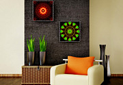 All - Spritual Shield - Green Serenity - Art Ideas for Interior Design by Hanza Turgul