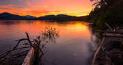 Peaceful Scenery Prints - Sproat Lake Sunset Print by James Wheeler