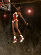 Basketball Paintings - Spud by Jumaane Sorrells-Adewale