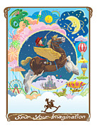 Daydream Mixed Media Posters - Spur Your Imagination Poster by J L Meadows