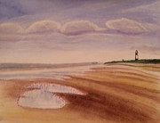 North Sea Paintings - Spurn Point by Stephanie Wood