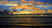 Tropical Storm Prints - Squall Line at Sunset Print by David Lee Thompson