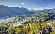Sea To Sky Highway Framed Prints - Squamish town from the summit of the Stawamus Chief Framed Print by Pierre Leclerc
