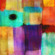 Corporate Art Mixed Media - Square Abstract Study Three  by Ann Powell