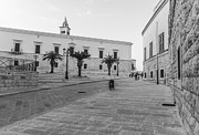 Walking Pyrography Prints - Square In Trani Print by Gianluca Pisano