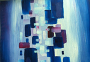 Abstract Composition Paintings - Square Play by Sarah Matthews