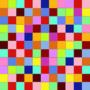Abstract Art Digital Art - Squares - 1 by Ely Arsha
