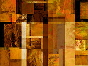 Earth Tones Metal Prints - Squares and Rectangles Metal Print by Ann Powell