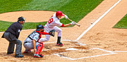 Boston Red Sox Prints - Squeeze Play Print by Steve Sturgill