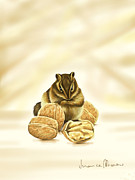 Squirrel Digital Art Metal Prints - Squirrel Metal Print by Veronica Minozzi