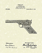 Pistol Drawings Posters - Squirt Gun 1915 Patent Art Poster by Prior Art Design