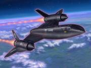Plane Paintings - SR-71 Blackbird by Stu Shepherd