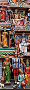 Southeast Asian Prints - Sri Mariamman Temple 03 Print by Rick Piper Photography