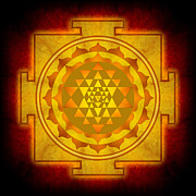 Work Digital Art Posters - Sri Yantra Poster by Dirk Czarnota
