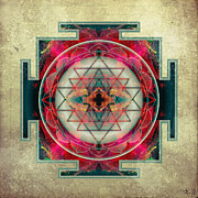 Sacred Circle Prints - Sri Yantra  Print by Filippo B