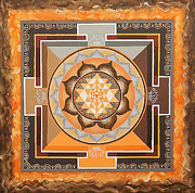 Sri Yantra Paintings - Sri Yantra by Maya B