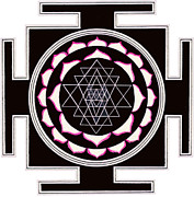 Sri Yantra Paintings - Sri Yantra by Mukee Okan