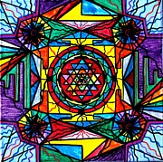Sacred Art Paintings - Sri Yantra by Teal Eye  Print Store