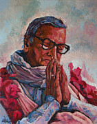 Spiritual Teacher Paintings - Sridhar Maharaj by Lazaros