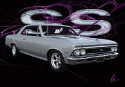 Chevelle Digital Art Prints - Ss 396 Print by Chris Thomas