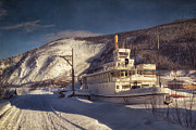 Slide Photo Prints - S.S. Keno Sternwheel Paddle Steamer Print by Priska Wettstein
