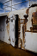 Passenger Liners Prints - SS United States Rusted Door Print by Jessica Berlin