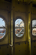 Newport News Shipbuilding Framed Prints - SS Unites States Deck Windows Framed Print by Jessica Berlin
