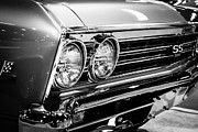 Ss396 Chevelle Black And White Picture Print by Paul Velgos
